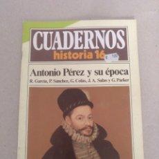 Coleccionismo de Revista Historia 16: CUADERNOS HISTORIA 16 NÚM 60. ANTONIO PÉREZ Y SU ÉPOCA. GARCÍA, SÁNCHEZ, COLÁS, SALAS, PARKER. Lote 191795712