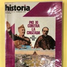 Coleccionismo de Revista Historia 16: HISTORIA 16 - PIO XI CONTRA LA CRUZADA - Nº 22 FEBRERO DE 1978. Lote 191829885