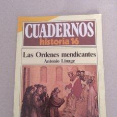 Coleccionismo de Revista Historia 16: CUADERNOS HISTORIA 16 NÚM 231. LAS ORDENES MENDICANTES. ANTONIO LINAGE. CUADERNO. Lote 192059205