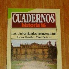 Collectionnisme de Magazine Historia 16: CUADERNOS HISTORIA 16. 196 : LAS UNIVERSIDADES RENACENTISTAS / ENRIQUE GONZÁLEZ Y VÍCTOR GUTIÉRREZ. . Lote 192540233