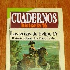Coleccionismo de Revista Historia 16: CUADERNOS HISTORIA 16. 286 : LAS CRISIS DE FELIPE IV / R. GARCÍA, F. BOUZA, J.A. RIBOT Y J. CALVO. Lote 251903680