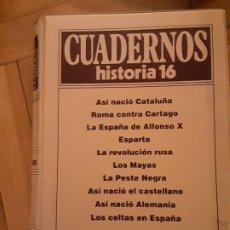Coleccionismo de Revista Historia 16: TOMO NR. 2 - CUADERNOS DE HISTORIA 16 - INCLUYE LOS NRS. 11 AL 20. Lote 194963553