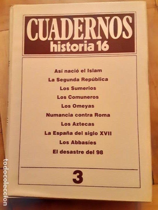 TOMO NR.3 - CUADERNOS DE HISTORIA 16 - INCLUYE LOS NRS. 21 AL 30 (Coleccionismo - Revistas y Periódicos Modernos (a partir de 1.940) - Revista Historia 16)