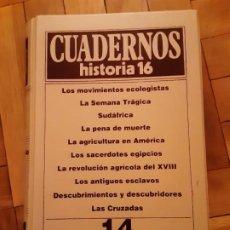 Coleccionismo de Revista Historia 16: TOMO 14 - CUADERNOS HISTORIA 16 - INCLUYE LOS NRS. 131 AL 140. Lote 194965013
