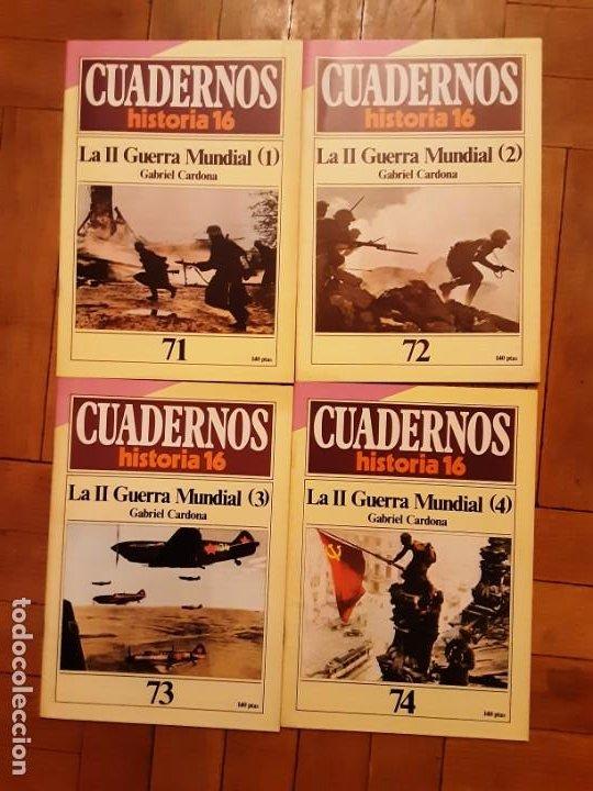 CUADERNOS HISTORIA 16 - SEGUNDA GUERRA MUNDIAL- NR. 71, 72, 73 Y 74. SERIE COMPLETA (Coleccionismo - Revistas y Periódicos Modernos (a partir de 1.940) - Revista Historia 16)