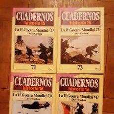 Coleccionismo de Revista Historia 16: CUADERNOS HISTORIA 16 - SEGUNDA GUERRA MUNDIAL- NR. 71, 72, 73 Y 74. SERIE COMPLETA. Lote 194965883