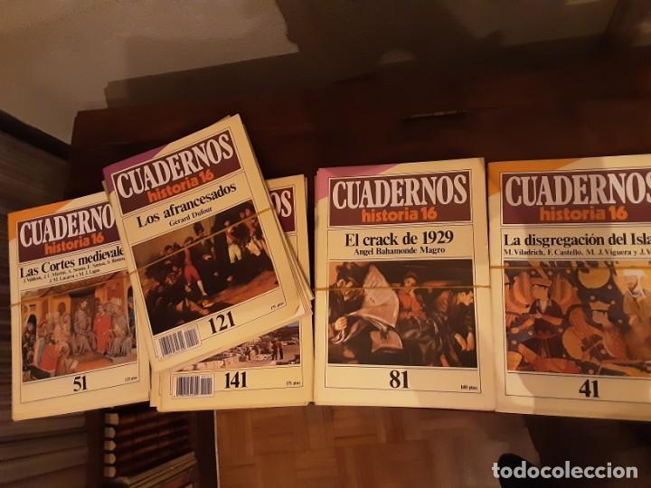 CUADERNOS HISTORIA 16 - NÚMEROS VARIOS. VER LISTADO EN FOTO (Coleccionismo - Revistas y Periódicos Modernos (a partir de 1.940) - Revista Historia 16)