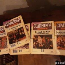 Coleccionismo de Revista Historia 16: CUADERNOS HISTORIA 16 - 76 NÚMEROS VARIOS, DEL 41 AL 291. VER LISTADO EN FOTO. Lote 194973342