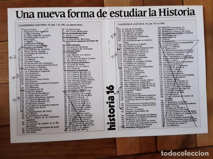 Coleccionismo de Revista Historia 16: Cuadernos Historia 16 - Números varios. Ver listado en foto - Foto 2 - 194973342