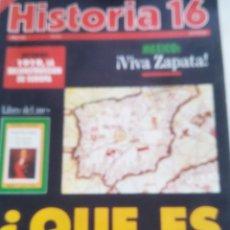 Coleccionismo de Revista Historia 16: REVISTA HISTORIA 16. ¿QUE ES ESPAÑA? LO QUE SE PENSABA EN LA EDAD MEDIA. Lote 201987467
