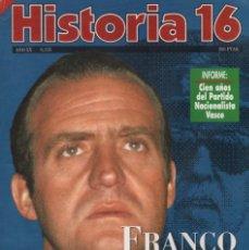 Coleccionismo de Revista Historia 16: HISTORIA 16 AÑO XX NUM. 235 NOVIEMBRE 1995. Lote 202611083