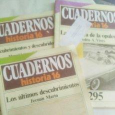 Coleccionismo de Revista Historia 16: CUADERNOS DE HISTORIA 16. Nº 139, 263, 295.. Lote 203222835