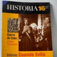 Collectionnisme de Magazine Historia 16: ANTIGUA REVISTA DE HISTORIA 16 ······ CUANDO EVITA VINO A ESPAÑA ····· Nº 254. Lote 203888072