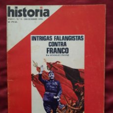 Coleccionismo de Revista Historia 16: HISTORIA 16 - AÑO I - Nº 8 - DICIEMBRE 1976. INTRIGAS FALANGISTAS CONTRA FRANCO.. Lote 204171006