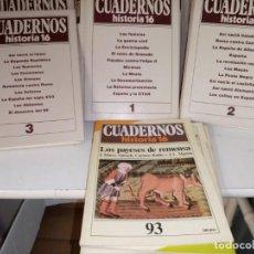 Coleccionismo de Revista Historia 16: COLECCION DEL Nº 1 AL 100 DE CUADERNO HISTORIA 16 DEL Nº 1 AL 90 ENCUADERNADO Y DEL 90 AL 100 SIN. Lote 204353196