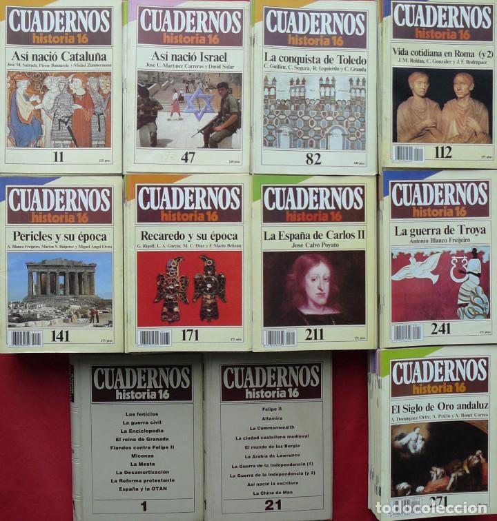 COLECCIÓN COMPLETA DE CUADERNOS DE HISTORIA 16 (300 CUADERNOS) (Coleccionismo - Revistas y Periódicos Modernos (a partir de 1.940) - Revista Historia 16)
