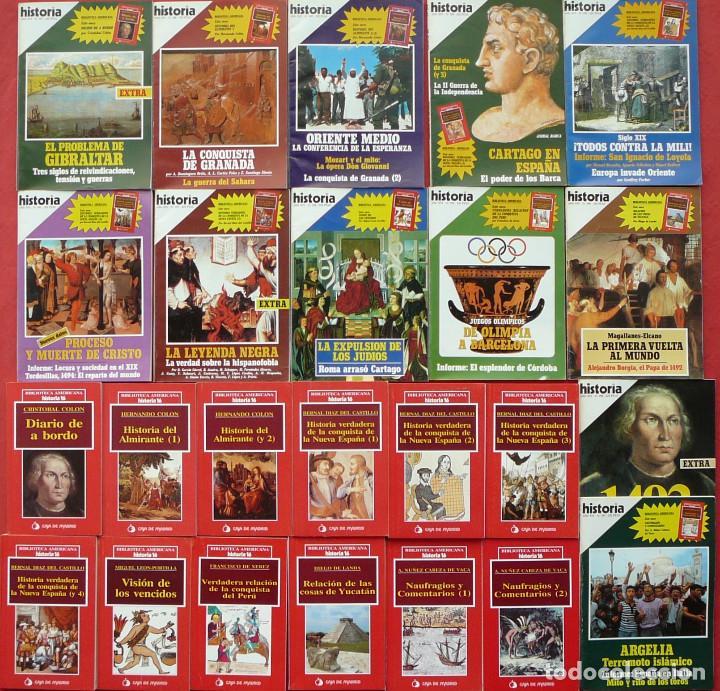 BIBLIOTECA AMERICANA COMPLETA DE HISTORIA 16 (12 LIBROS) + 12 EJEMPLARES DE LA REVISTA HISTORIA 16 (Coleccionismo - Revistas y Periódicos Modernos (a partir de 1.940) - Revista Historia 16)