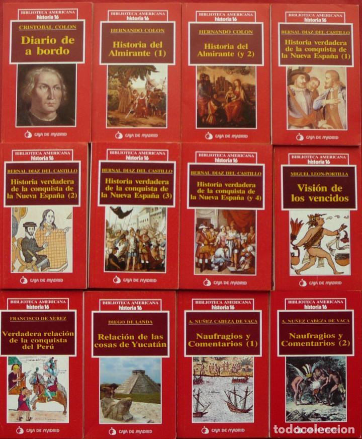Coleccionismo de Revista Historia 16: BIBLIOTECA AMERICANA COMPLETA DE HISTORIA 16 (12 LIBROS) + 12 EJEMPLARES DE LA REVISTA HISTORIA 16 - Foto 3 - 207002777