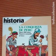 Coleccionismo de Revista Historia 16: HISTORIA 16 Nº 79 NOVIEMBRE 1982 LA CONQUISTA DE PERÚ VALENCIANOS S. XIV EAMON DE VALERA. Lote 207520630