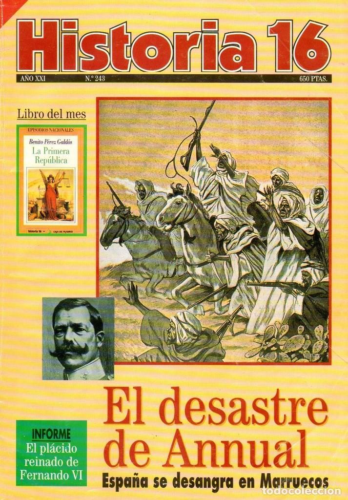 HISTORIA 16 AÑO XXI NUM. 243 JULIO 1996 (Coleccionismo - Revistas y Periódicos Modernos (a partir de 1.940) - Revista Historia 16)