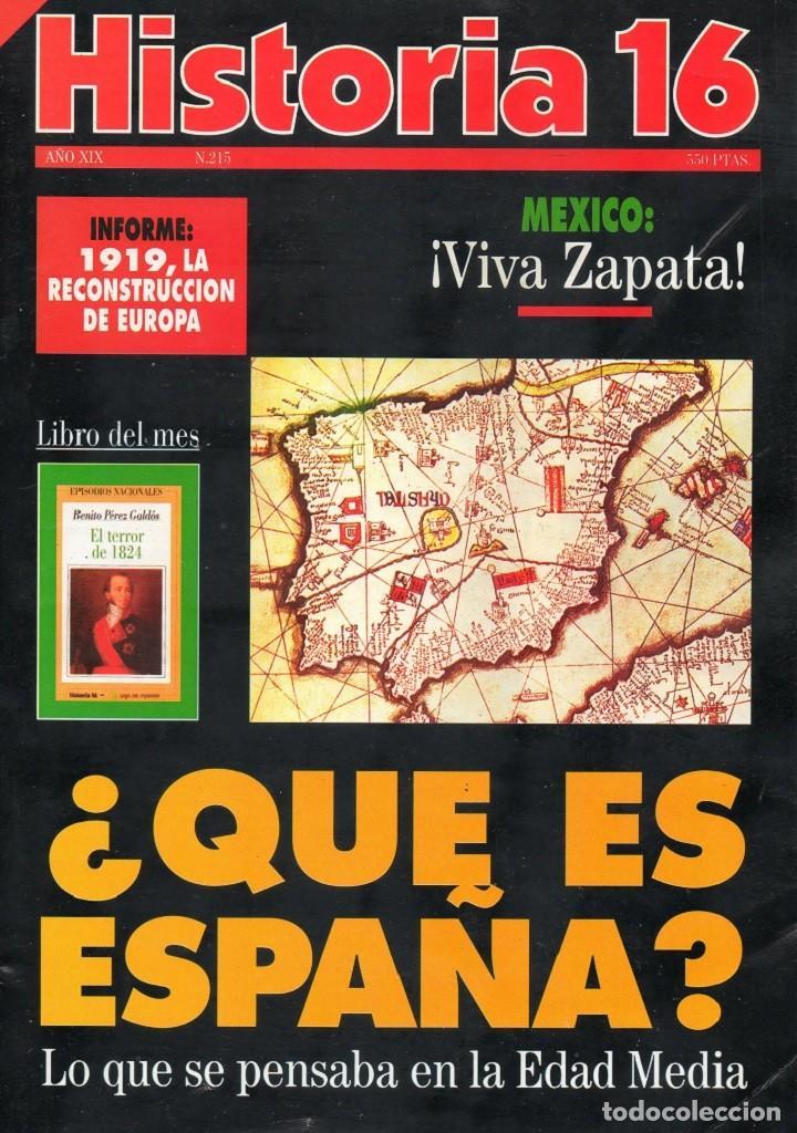 HISTORIA 16 AÑO XIX NUM. 215 MARZO 1994 (Coleccionismo - Revistas y Periódicos Modernos (a partir de 1.940) - Revista Historia 16)
