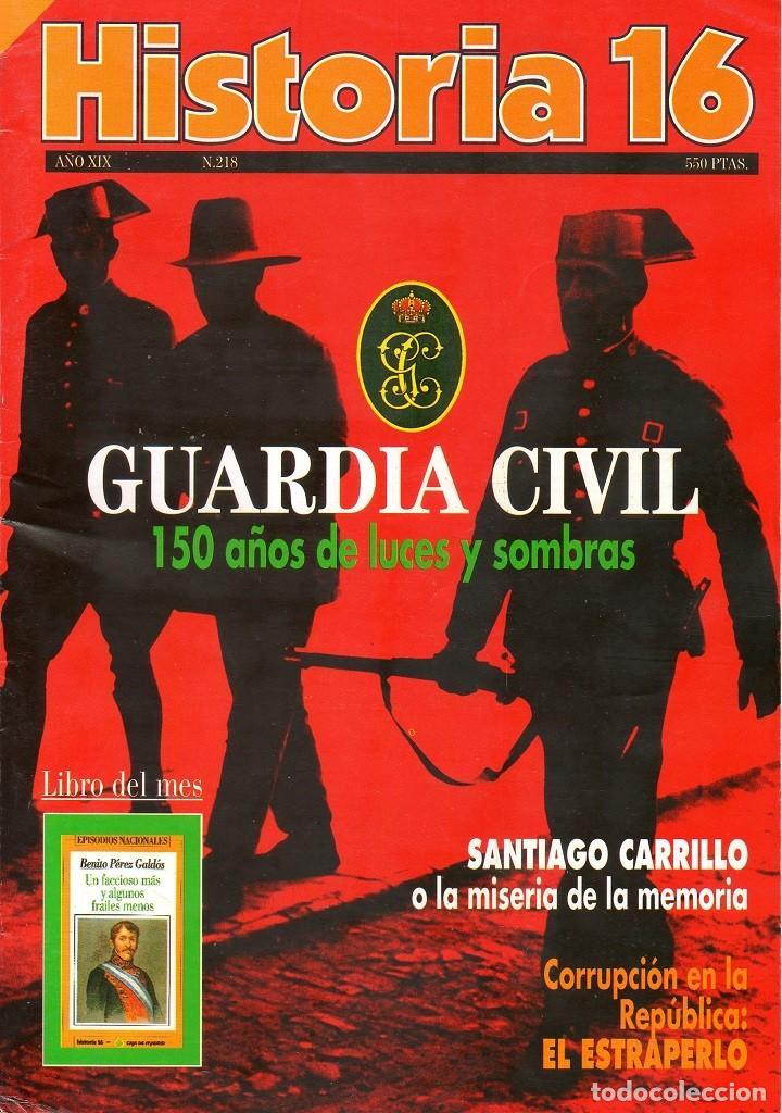 HISTORIA 16 AÑO XIX NUM. 218 JUNIO 1994 (Coleccionismo - Revistas y Periódicos Modernos (a partir de 1.940) - Revista Historia 16)