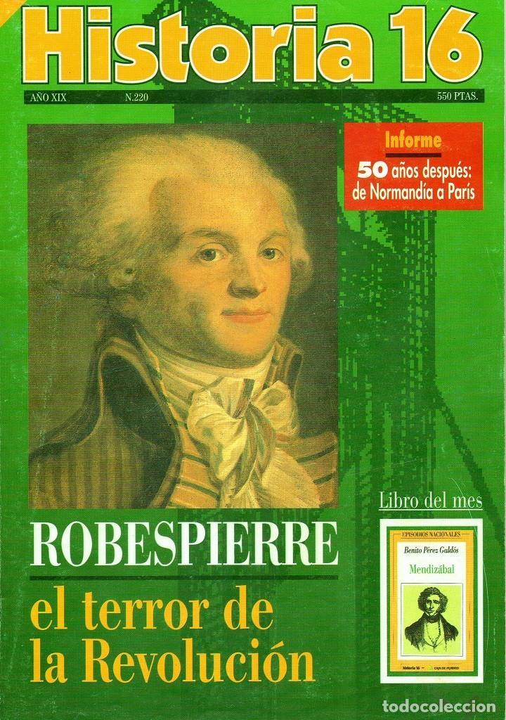 HISTORIA 16 AÑO XIX NUM. 220 AGOSTO 1994 (Coleccionismo - Revistas y Periódicos Modernos (a partir de 1.940) - Revista Historia 16)