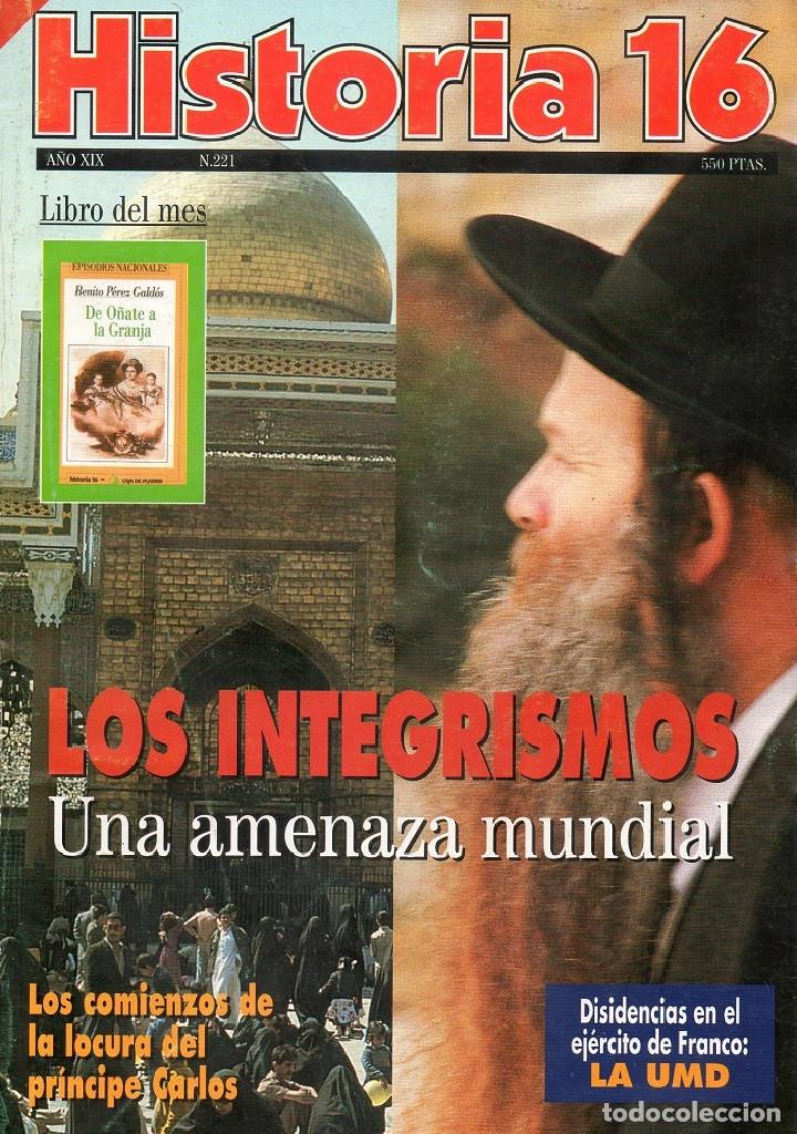 HISTORIA 16 AÑO XIX NUM. 221 SEPTIEMBRE 1994 (Coleccionismo - Revistas y Periódicos Modernos (a partir de 1.940) - Revista Historia 16)