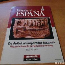 Coleccionismo de Revista Historia 16: HISTORIA 16 HISTORIA DE ESPAÑA Nº 3 TEMAS DE HOY. DE ANIBAL A EMPERADOR AUGUSTO. Lote 210434632