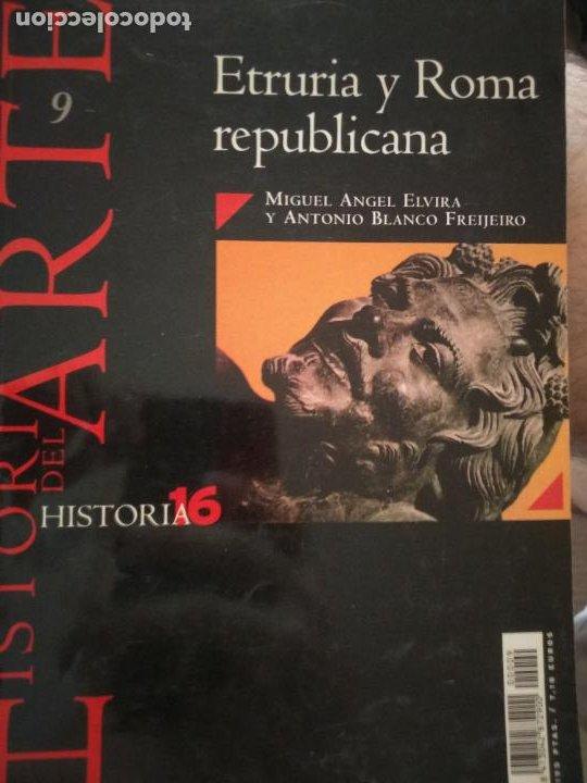 HISTORIA DEL ARTE Nº 12. ETRURIA Y ROMA REPUBLICANA. M.A. ELVIRA/BLANCO FREJEIRO. HISTORIA 16 (Coleccionismo - Revistas y Periódicos Modernos (a partir de 1.940) - Revista Historia 16)