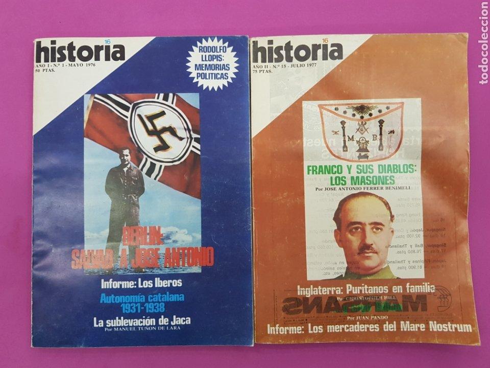 LOTE 2 REVISTAS HISTORIA 16 , MAYO Y JULIO 1977 (Coleccionismo - Revistas y Periódicos Modernos (a partir de 1.940) - Revista Historia 16)