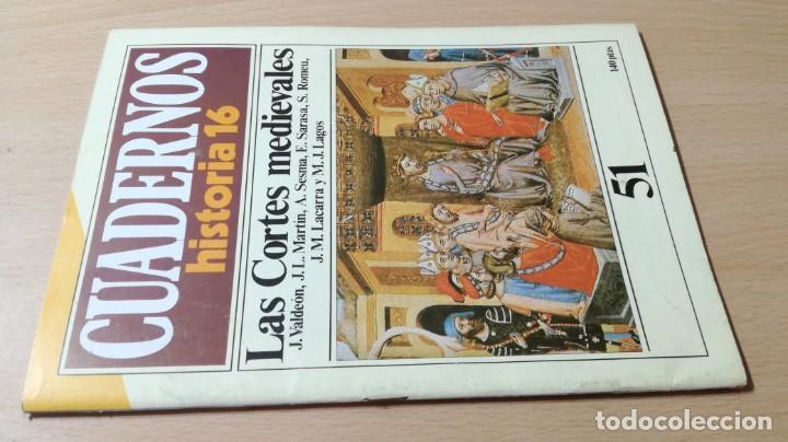 CUADERNOS HISTORIA 16 - 51 - LAS CORTES MEDIEVALES / W103 (Coleccionismo - Revistas y Periódicos Modernos (a partir de 1.940) - Revista Historia 16)