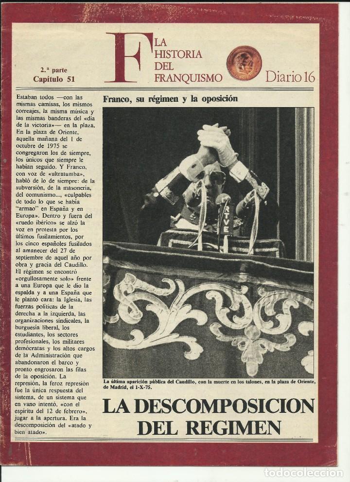 HISTORIAS DEL FRANQUISMO DIARIO 16 (Coleccionismo - Revistas y Periódicos Modernos (a partir de 1.940) - Revista Historia 16)