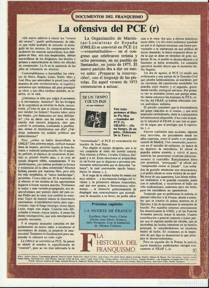 Coleccionismo de Revista Historia 16: HISTORIAS DEL FRANQUISMO DIARIO 16 - Foto 2 - 211574789