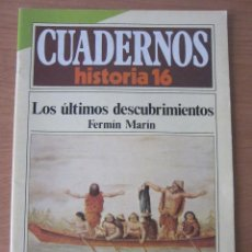 Coleccionismo de Revista Historia 16: LOS ÚLTIMOS DESCUBRIMIENTOS. CUADERNOS HISTORIA 16. Lote 216371386