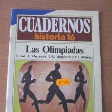 Coleccionismo de Revista Historia 16: LAS OLIMPIADAS. CUADERNOS HISTORIA 16. Lote 216371557