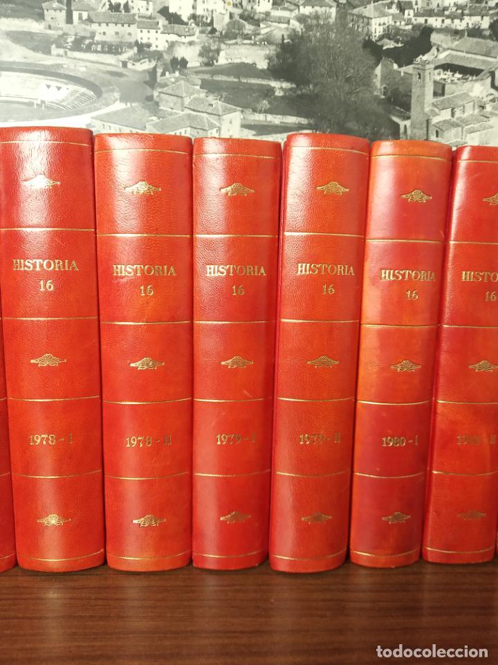 Coleccionismo de Revista Historia 16: Gran colección de revistas encuadernadas Historia 16. 14 tomos de 1976 a 1981. Incluye tomos extras. - Foto 3 - 216972387