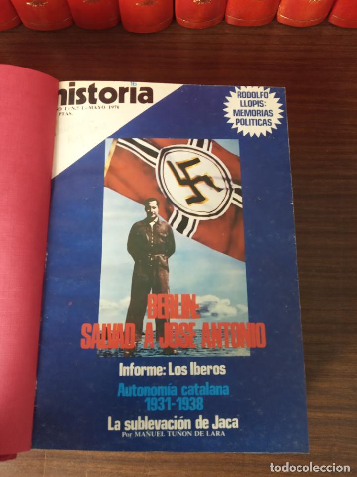 Coleccionismo de Revista Historia 16: Gran colección de revistas encuadernadas Historia 16. 14 tomos de 1976 a 1981. Incluye tomos extras. - Foto 7 - 216972387