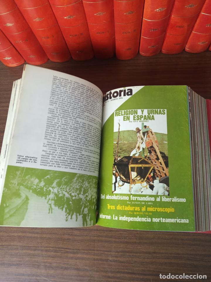 Coleccionismo de Revista Historia 16: Gran colección de revistas encuadernadas Historia 16. 14 tomos de 1976 a 1981. Incluye tomos extras. - Foto 8 - 216972387