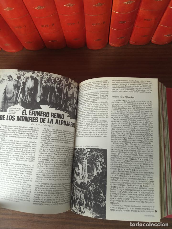 Coleccionismo de Revista Historia 16: Gran colección de revistas encuadernadas Historia 16. 14 tomos de 1976 a 1981. Incluye tomos extras. - Foto 9 - 216972387