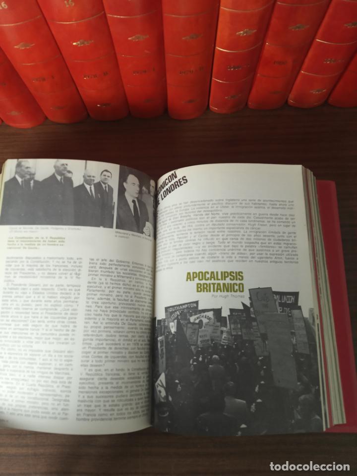 Coleccionismo de Revista Historia 16: Gran colección de revistas encuadernadas Historia 16. 14 tomos de 1976 a 1981. Incluye tomos extras. - Foto 10 - 216972387