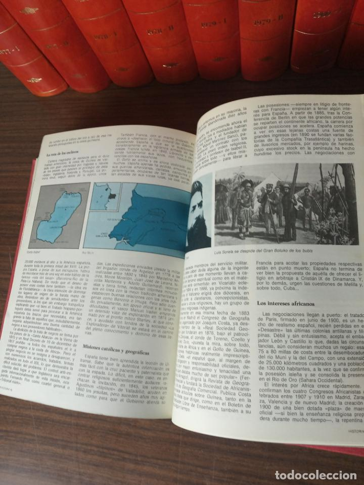 Coleccionismo de Revista Historia 16: Gran colección de revistas encuadernadas Historia 16. 14 tomos de 1976 a 1981. Incluye tomos extras. - Foto 11 - 216972387