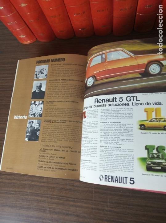 Coleccionismo de Revista Historia 16: Gran colección de revistas encuadernadas Historia 16. 14 tomos de 1976 a 1981. Incluye tomos extras. - Foto 13 - 216972387