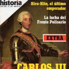 Coleccionismo de Revista Historia 16: HISTORIA 16, Nº 151 (NOVIEMBRE 1988) EXTRA CARLOS III, SEGUNDO CENTENARIO. Lote 217324641