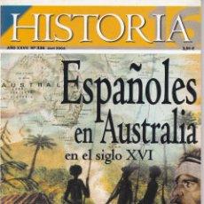 Coleccionismo de Revista Historia 16: REVISTA HISTORIA 16: ESPAÑOLES EN AUSTRALIA EN EL SIGLO XVI. Lote 217620742