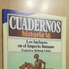 Coleccionismo de Revista Historia 16: LOS BARBAROS EN EL IMPERIO ROMANO 198 CUADERNOS DE HISTORIA 16 F BELTRAN W405. Lote 218232365