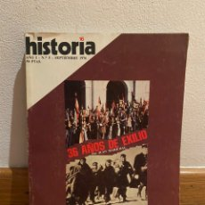 Coleccionismo de Revista Historia 16: HISTORIA 16 36 AÑOS DE EXILIO NÚMERO 5. Lote 218748715