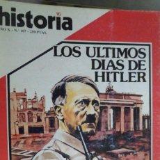Coleccionismo de Revista Historia 16: HISTORIA 16. NUMERO 107 LOS ÚLTIMOS DÍAS DE HITLER. INFORME: HERNÁN CORTÉS. EL EXPEDIENTE PICASSO. Lote 219469470