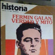 Coleccionismo de Revista Historia 16: HISTORIA 16. NUMERO 109 FERMÍN GALÁN, VERDAD Y MITO. VICTOR HUGO POR JULIO CARO BAROJA. Lote 219469538