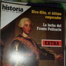 Coleccionismo de Revista Historia 16: HISTORIA 16. NUMERO 151 EXTRA HIRO-HITO, EL ÚLTIMO EMPERADOR. LA LUCHA DEL FRENTE POLISARIO.. Lote 219469791